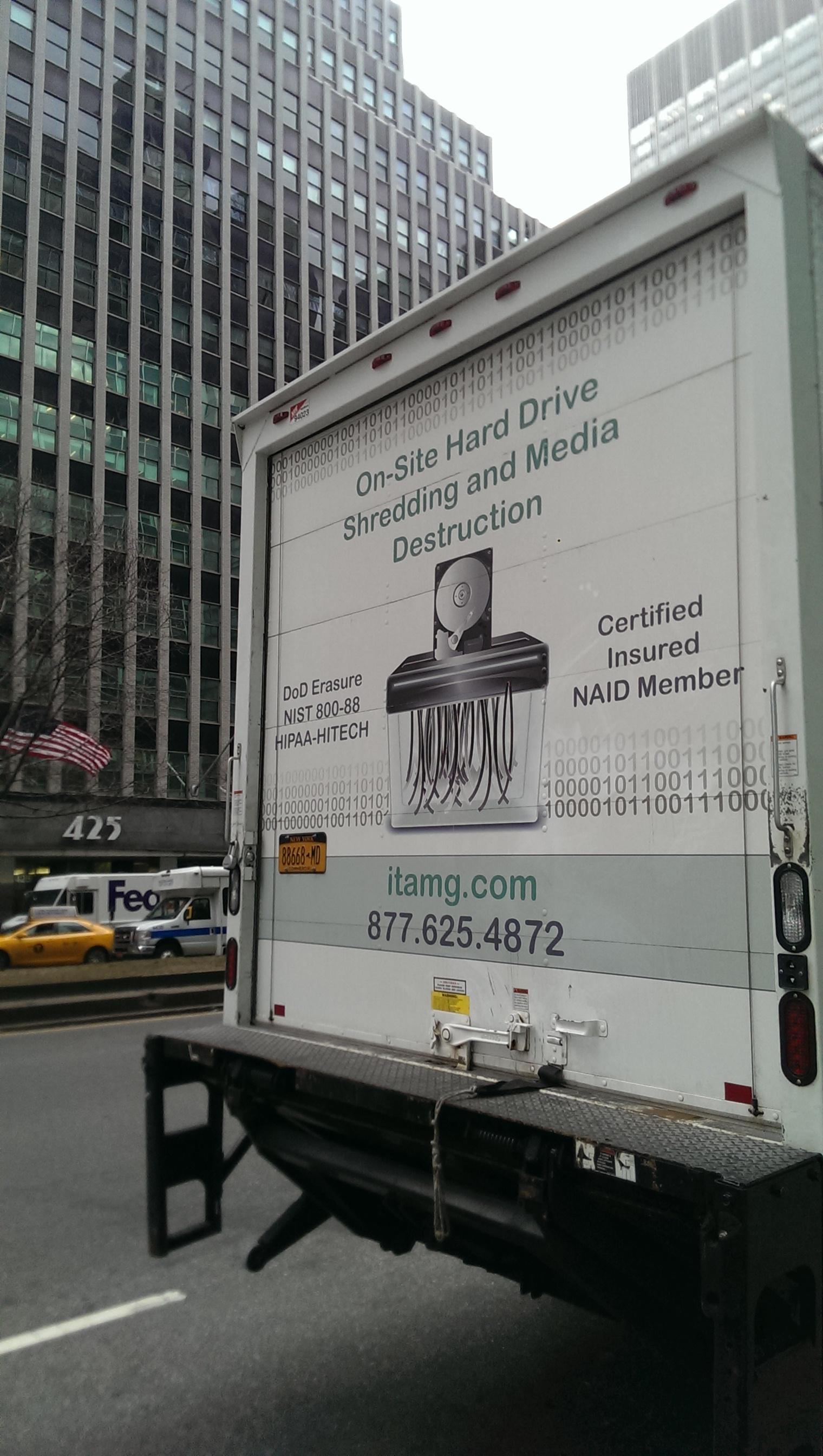 Hard Drive Shredding NY